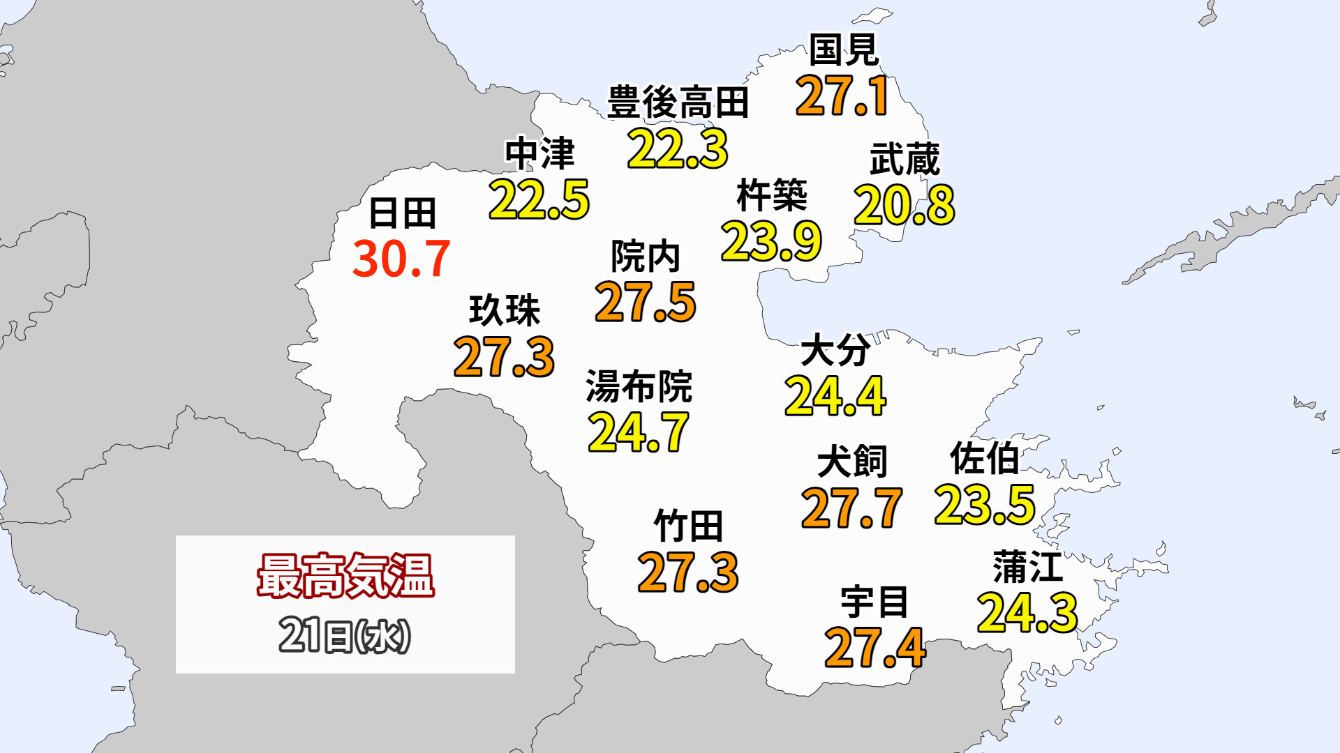 20210421大分の最高気温