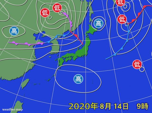 2020年8月14日の天気図3